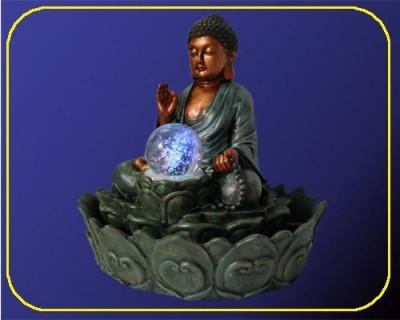 led zimmerbrunnen thai buddha rgb farbwechsel 1996. Black Bedroom Furniture Sets. Home Design Ideas