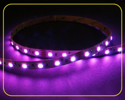 RGB LED Strip 10 cm 6 SMDs 24V 1,44W IP20 – Bild 1