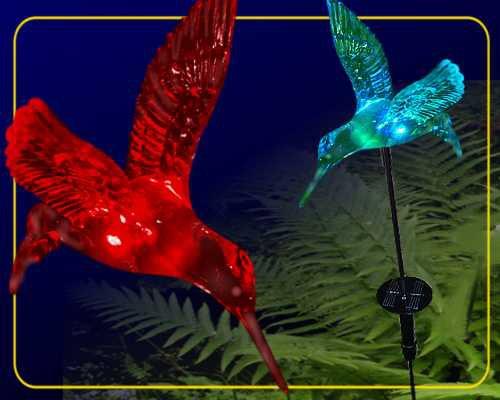 solar gartenstab kolibri im rgb farbwechsel 1085. Black Bedroom Furniture Sets. Home Design Ideas